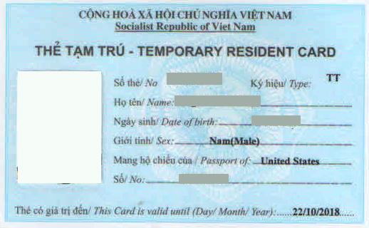Dịch Vụ Thẻ Tạm Trú tại Visa Bảo Ngọc