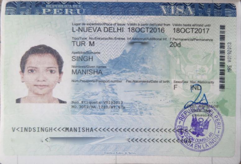 Kết quả hình ảnh cho Visa Peru